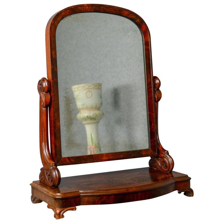 Antique Dressing Table Mirror Victorian Vanity Toilet Art Nouveau Circa 1890