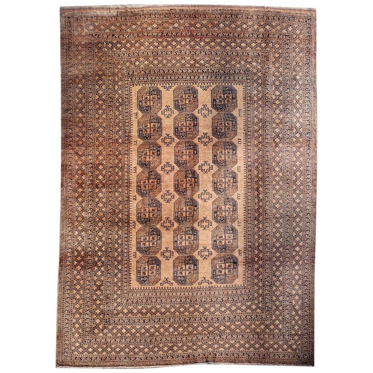 Oversized Ersari Tribal Turkoman Rug For Sale