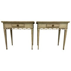 Pair of Decorative 1900s Swedish Side Tables