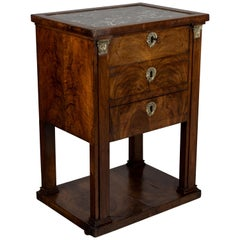 19th Century French Empire Travailleuse or Side Table