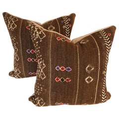 Custom Pillows by Maison Suzanne Cut From a Vintage Moroccan Wool Ourika Rug