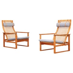 Pair of Danish Lounge Chairs by Borge Mogensen for Fredericia