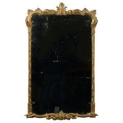 Mid-18th Century Irish George III Carved Giltwood Mirror