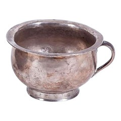 19th Century Bolivian Colonial Silver Urinal with Engraved Signature on Base