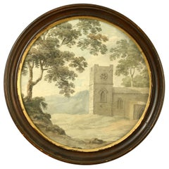 Late 18th Century Watercolor of a Church
