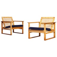 Pair of Lounge Chairs by Borge Mogensen for Fredericia