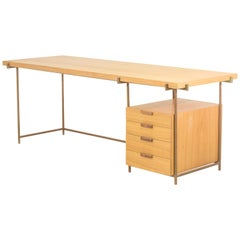 Brazilian Wood Copper Desk with Drawer, Brazilian Modern Style / by Atelier BAM