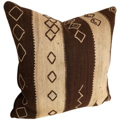 Custom Pillow by Maison Suzanne Cut from a Vintage Wool Moroccan Ourika Rug