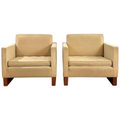 Mies van der Rohe Style Club Chair, Pair