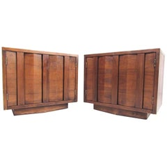 Midcentury Walnut Nightstands