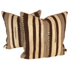 Custom Pillows Cut from a Vintage Hand Loomed Wool Moroccan Berber Rug
