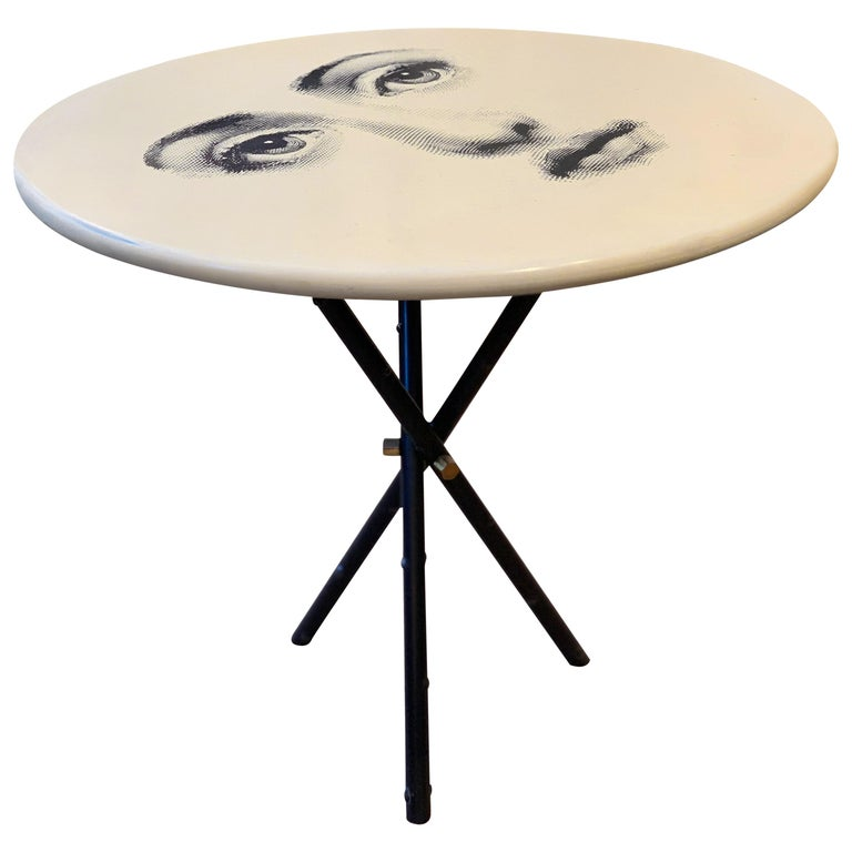 Occasional Table by Fornasetti Printed with Lina Cavalieri's Portrait For Sale