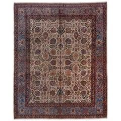 Antique Persian Kazvin Carpet, circa 1930s