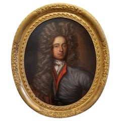18th Century Painting of a Nobleman in Period Frame