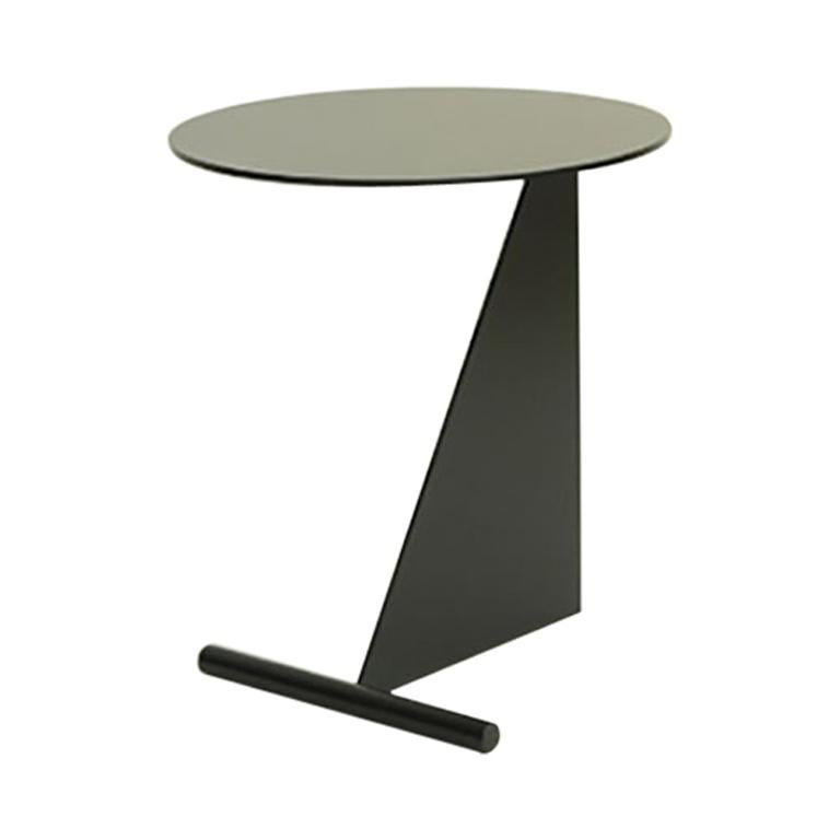 """Max Enrich Powder coated Iron Side Table model """"Stabile"""" contemporary design"""
