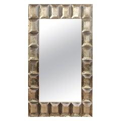 Large Murano Smoked Glass Diamond Pattern, In Stock.