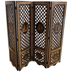Early 19th Century Italian Micro Marquetry Petite Screen