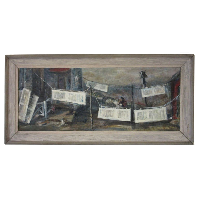 WPA Styled Painting by John Imhoff For Sale