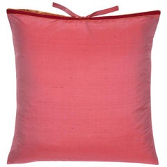 Silk Dupioni Throw Pillow Watermelon