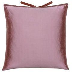 Silk Dupioni Throw Pillow Mauve