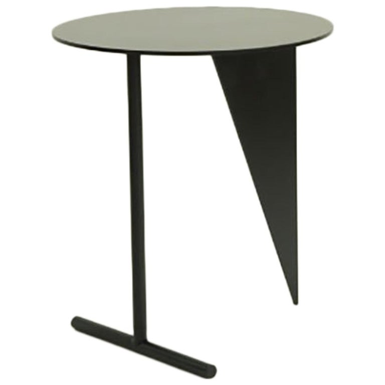 """Max Enrich Powder Coated Iron Contemporary circular Side Table  """"Stabile"""" For Sale"""