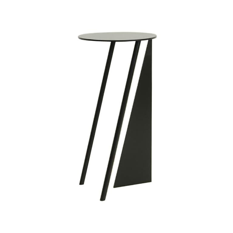 Max Enrich 'Stabile' Side Table Black Powder Coated Metal Contemporary Design