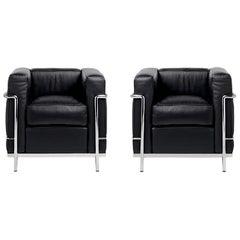Le Corbusier LC2 Leather Armchair Grand Confort, Petit Modèle Cassina
