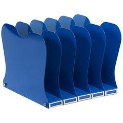 1940s Desktop File Holder, Refinished in Blue