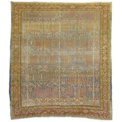Antique Persian Bakshaish Willow Tree Rug