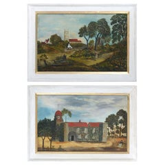 Pair of 19th Century Naive Landscapes