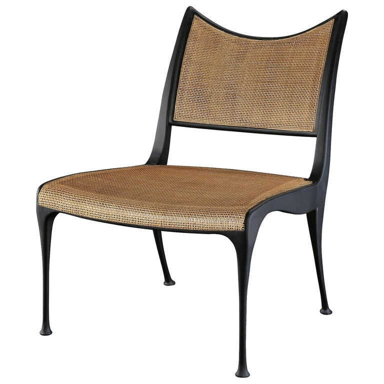 Midcentury Designed Heirloom Quality Vintage Cane Armchair in Antique Finish For Sale