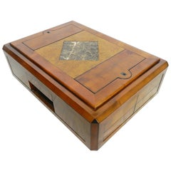 Coffee Table Cocktail French 20th Century Centre Drawers Secret Compartments