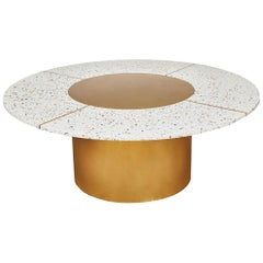 Sol Terrazzo Venetian Mix with Brass Base Coffee Table by Casey McCafferty