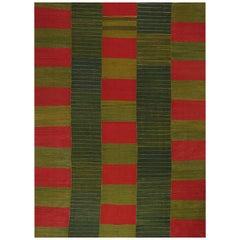 Zeitgenössischer Handgewebter Flachgewebe Persischer Kelim Teppich RC 109907