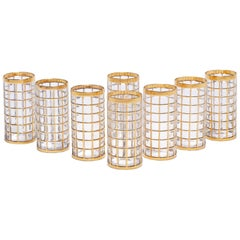 Vintage Imperial Glass Co. Toril de Oro Highball Glasses 22-Karat Gold, Set of 8