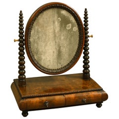 Mid-19th Century Victorian Walnut Dressing Table Mirror
