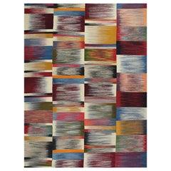 Zeitgenössischer Handgewebter Flachgewebe Persischer Kelim Teppich, RC 109941