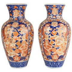 Pair Impressive 19th Century Japanese Imari Vases or Lamps