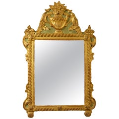 Early 20th Century Painted Parcel Gilded Mirror in Louis XVI Manner