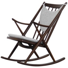 Rocking Chair by Frank Reenskaug for Bramin in Teak