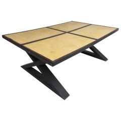 Goatskin Coffee Table in the Style of Gene Michel Frank
