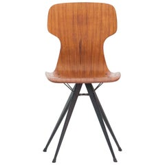 Italian Iron and Teak Chair, 1950s