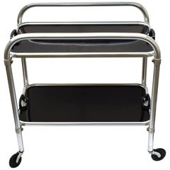 Art Deco Two-Tier Aluminium Hostess Bar Cart, circa 1930