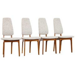 Mid-Century Modern Teak High Back Dining Chair by Erik Buch for, Denmark, 1960s