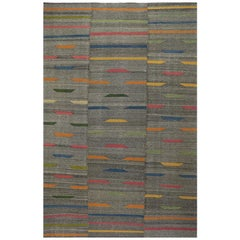 Zeitgenössischer Handgewebter Flachgewebe Persischer Kelim Teppich, RC 109909