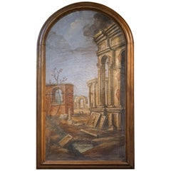 Pair of Italian Fresco Paintings