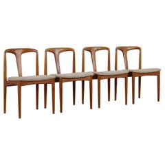 Midcentury Teak Juliane Dining Chairs by Johannes Andersen, 1960s, Set of
