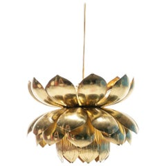 Large Brass Lotus Fixture by Feldman Lighting Company