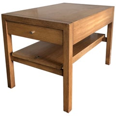 Large Walnut Side Table by John Keal
