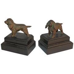 Bronze Dog Book Ends / Pair